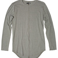 L/S Curved Hem Thermal Tee Military Green