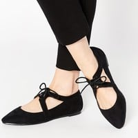 ASOS MAPLE Pointed Cut Out Lace Up Shoes