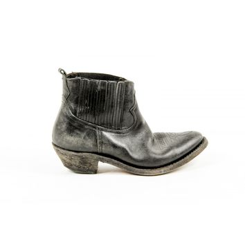 Golden Goose Womens Black Calf Leather Ankle Boot