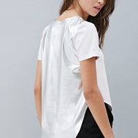 Private Archives Perforated Metallic-Back Top