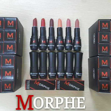 On Sale Make-up Hot Sale Professional Hot Deal Beauty Cup Moisture Lip Stick 6pcs/set [11405538191]