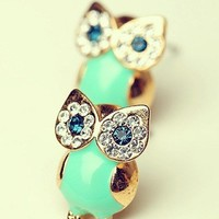 [grdx02105]Unique Shiny Sparking Cute Owl Earrings