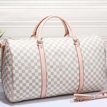 LV Women Leather Multicolor Luggage Travel Bags Tote Handbag-1
