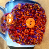 Variegated Mug Cozy in Purple and Gold