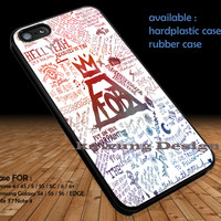 Fall Out Boys Art Lyric DOP1185 iPhone 6s 6 6s+ 5c 5s Cases Samsung Galaxy s5 s6 Edge+ NOTE 5 4 3 #music #fob