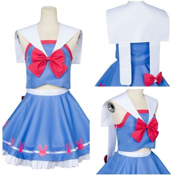 Watch Over D.VA Hana Song Sailor Suit Uniform Cosplay Costume Outfit Dress Gown