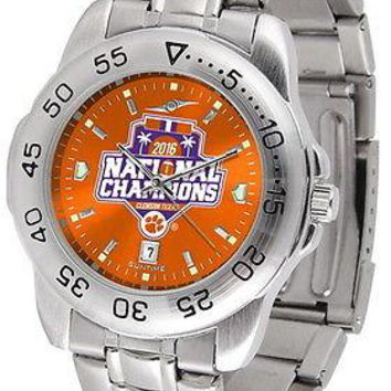 Clemson Tigers 2016 Championship Watch Anochrome Color Dial Ladies or Mens