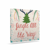 "Famenxt ""Jingle All The Way"" Holiday Digital Canvas Art"