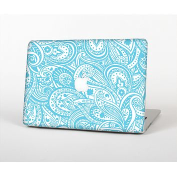 The Light Blue Paisley Floral Pattern V3 Skin Set for the Apple MacBook Air 11""