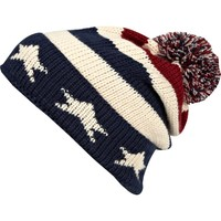 Navy stars and stripes bobble beanie hat - hats - accessories - men