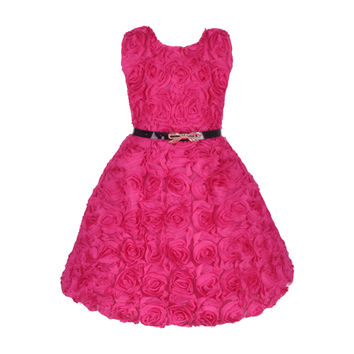 2016 Vestido Infantil Girl Flower Wedding Party Dress Floral Children Wedding Dress Baby Wear for 2-7Y Hot Sale