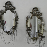 French Mirrored Wall Sconces