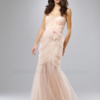 Blossom Layered Organza Strapless Sweetheart Mermaid Prom Dress - Unique Vintage - Homecoming Dresses, Pinup & Prom Dresses.