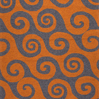 Coastal Living Collection Wave Hello Rug in Orange design by Jaipur
