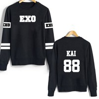 2017 New Girl Winter Hoodie Kpop Shinee Terry Long Sleeved Sweatshirts Hoodies Moletom Hoodies Exo Sweatshirts