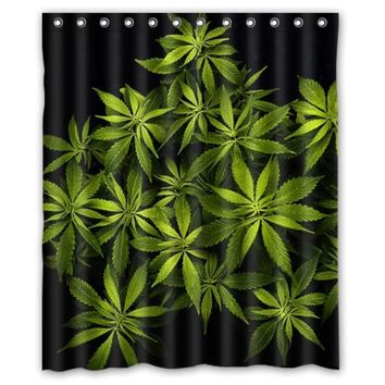 Cannabis Plant Waterproof Shower Curtain -  CannaCurtains