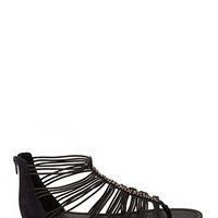 FOREVER 21 Strappy Bejeweled Sandals Black