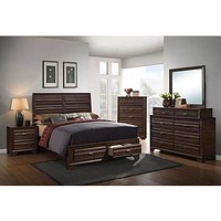C6236A Antique Walnut Bedroom