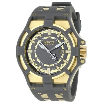 Invicta 0628 Men's Akula Reserve Grey Dial Rubber & Steel Strap GMT Watch