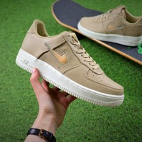 Nike Lab Air Force 1 Low Jewel Sport Shoes Khaki Swoosh Sneaker - Best Online Sale