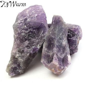 PEAP78W 100g Natural Purple Amethyst Quartz Crystal Rough Rock Specimen Healing Stones Aquarium Fish Tank Planting Pot DIY Materials