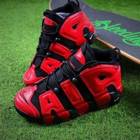 DCCKU62 Nike Air More Uptempo QS Black Red Baskerball Shoes 415082-005 Sneaker