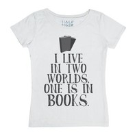 World in Books-Female White T-Shirt