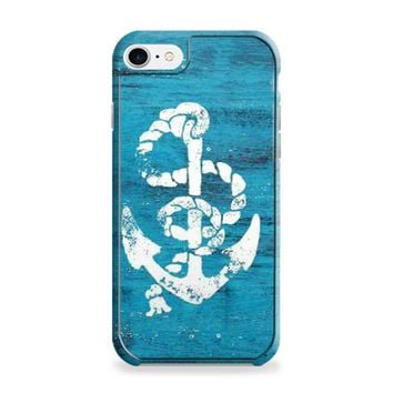 Marine Anchor Blue Wooden iPhone 6 | iPhone 6S Case