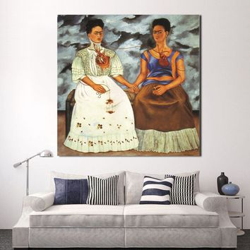 YEEL ART Frida Kahlo Paintings On Canvas Print Picture Home Decor Wall Art Living Room Modern No Frame