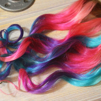 Ombre Spring Hair Extensions, Human Hair 20-22 inches long, Clip In Hair Extensions, Hippie Hair, Dip Dyed Tips