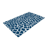 """Project M """"British Mosaic Navy"""" Woven Area Rug"""