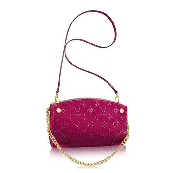 Louis Vuitton Monogram Vernis Leather Santa Monica Clutch Handbag Article: M50587 Made in France