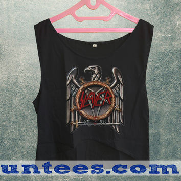 Renders Slayer Logo Womens Crop Tank