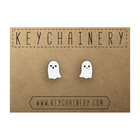 Ghost Studs - Halloween Earrings -Scary Studs