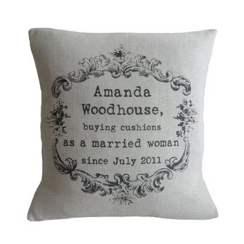 Personalised Vintage Style Pillow Cover