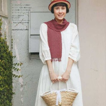 Knitting & Crochet Pattern - Japanese Craft Book for Women Cloting - Knit Clothes - Stole, Cape, Tippet - Feminine, Girly, Simple - B1045