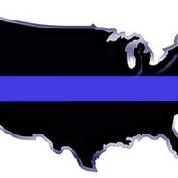 Thin Blue Line USA Country Decal