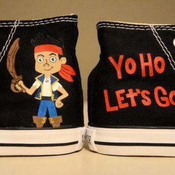 ICIKGQ8 jake and the neverland pirates hand painted chuck taylor converse shoes infant tod