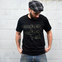 Men's Tshirt - For HIm // GUITAR Pickups Tshirt - Gift for Musician // Clothing