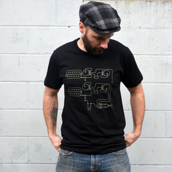 Men's T-Shirt // GUITAR Pickups // Gift for Musician