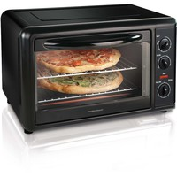 Hamilton Beach Kitchen Countertop 2 Rack Toaster Oven with Convection, Black