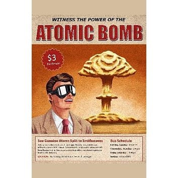 Atom Bomb Tour Art poster Metal Sign Wall Art 8in x 12in