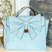 Take A Bow Bag-Powder Blue