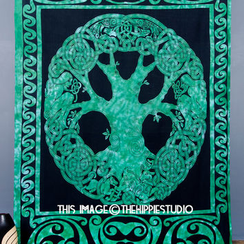 Celtic Tree of Life Tapestry, Indian Tree Tapestries, Hippie Bohemian Tapestries, Tapestry Wall Hanging, Boho Tapestry Beach Throw, Wall Art