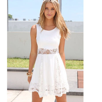 LACE DRESS HOT CUTE HOLLOW OUT DRESS