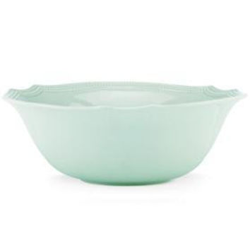 French Perle Ice Blue Bead Serving Bowl by Lenox