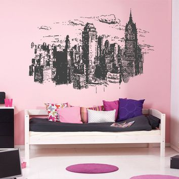 ik1155 Wall Decal Sticker new york city american bedroom children