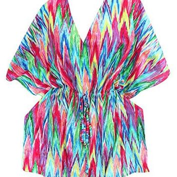 La Leela Bathing Suit Swim Beach Bikini Wear Swimsuit Cover up for Womens Solid