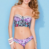 Maaji Swimwear 'Ladies and Gentlecats' Corset Top Bikini by Maaji 2013 | The Orchid Boutique