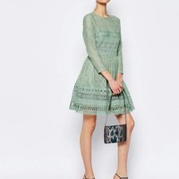 ASOS Premium Lace Skater Dress at asos.com